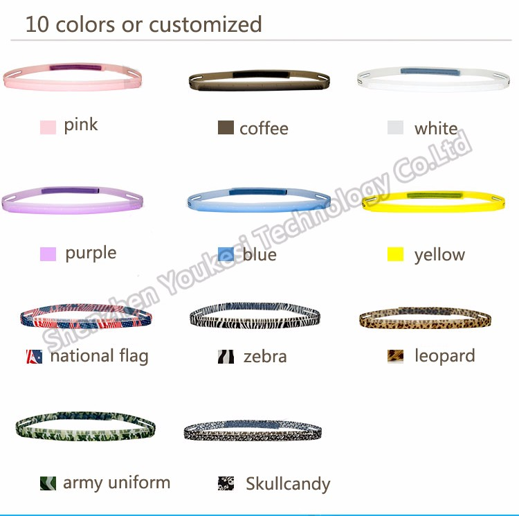 Hot Sellind Fashion Print Silicone Sweat Guiding Band