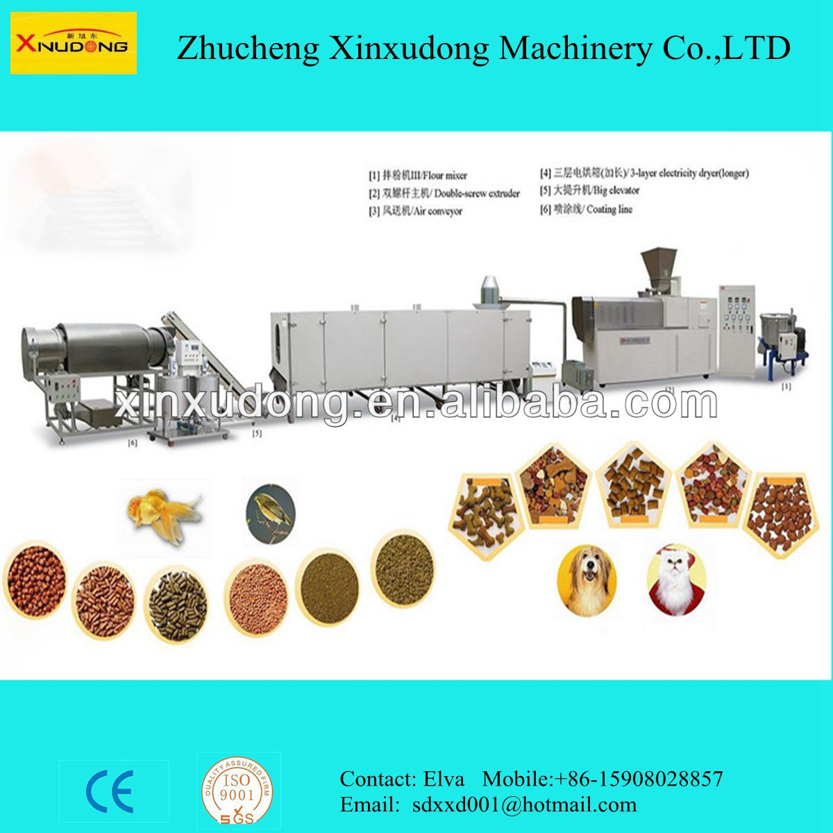 Pet Dog Cat Fish Snack Food Production Line