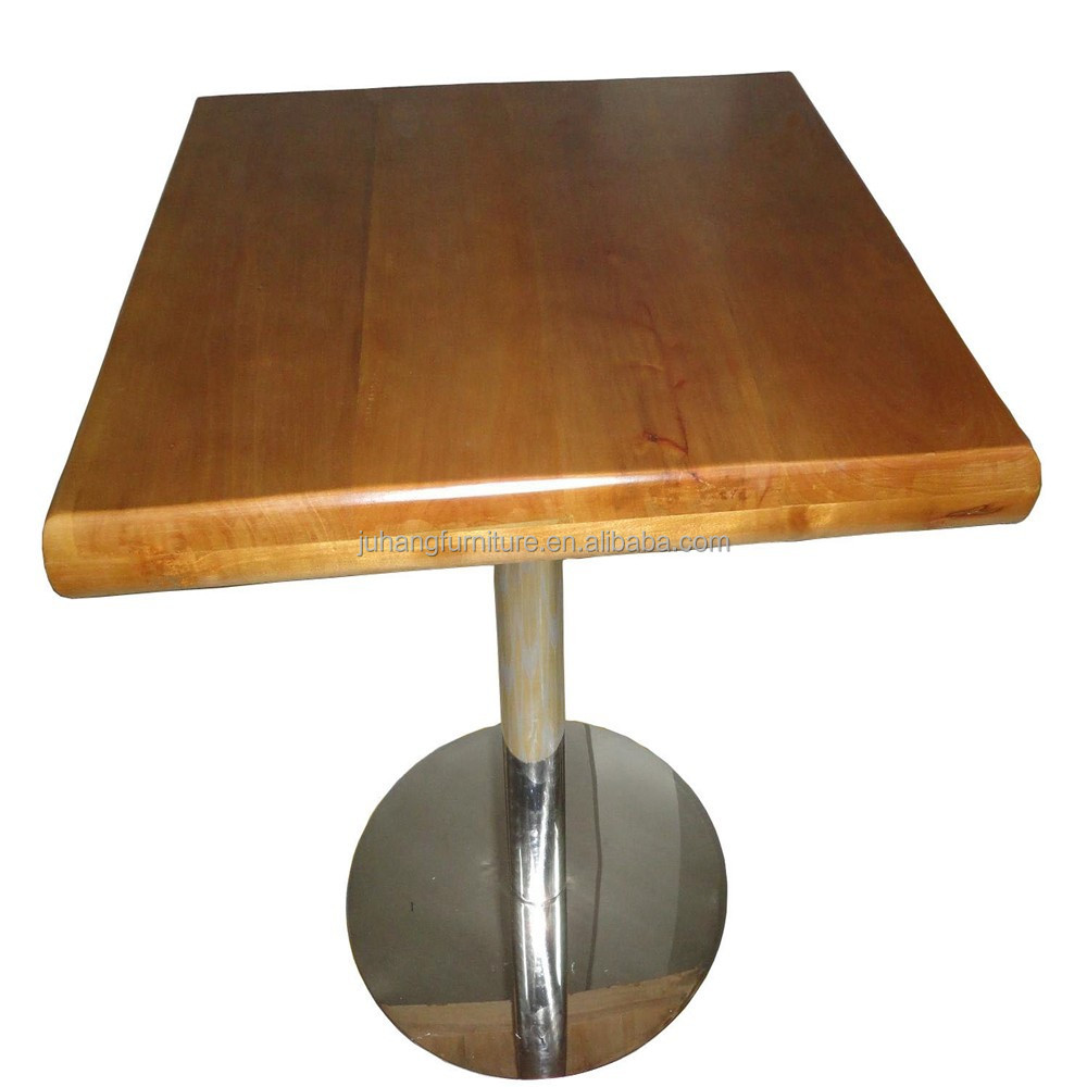Solid Wood Square Oak Table For coffee shop