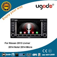 OEM android 4.4 car auto dvd player with gps 3g wifi for Nissan Livina/Juke/Note