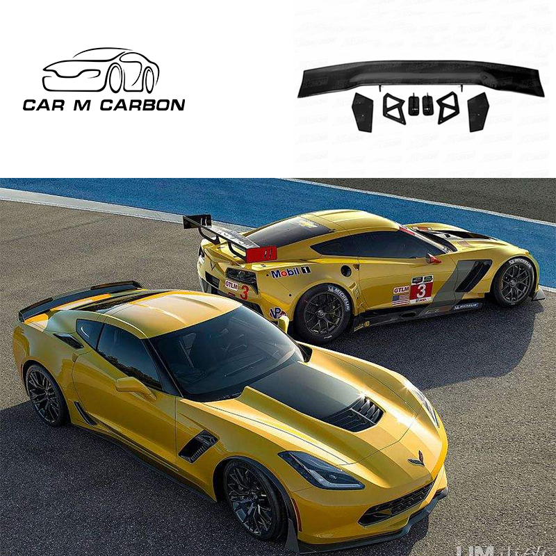GT Style Carbon Fiber Rear Spoiler for 2015-2017 C7 <strong>Z06</strong> Style Rear Bumper Spoiler