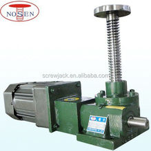 Mechanical motorized hydraulic worm gear jack for up and down for workshop