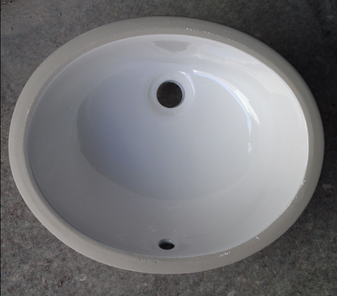 Popular Oval Shape Undermount Countertop Ceramic Bathroom