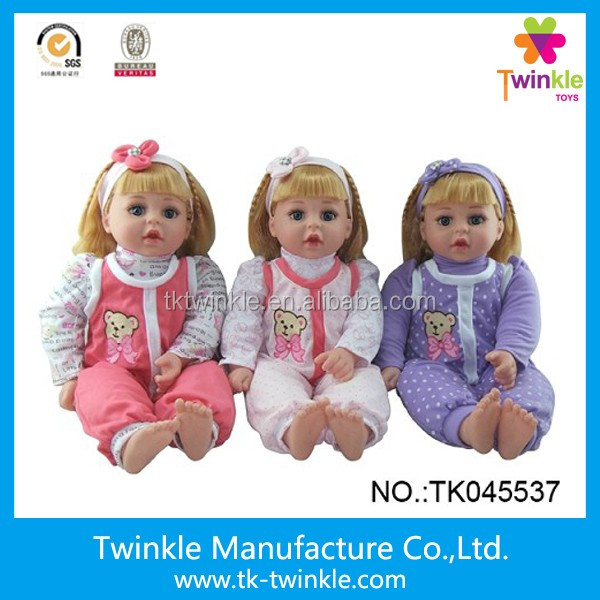 Kids toys 18inch vinyl doll kids baby dolls with IC