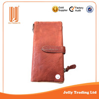 Direct best quality leather wallet genuine men purse