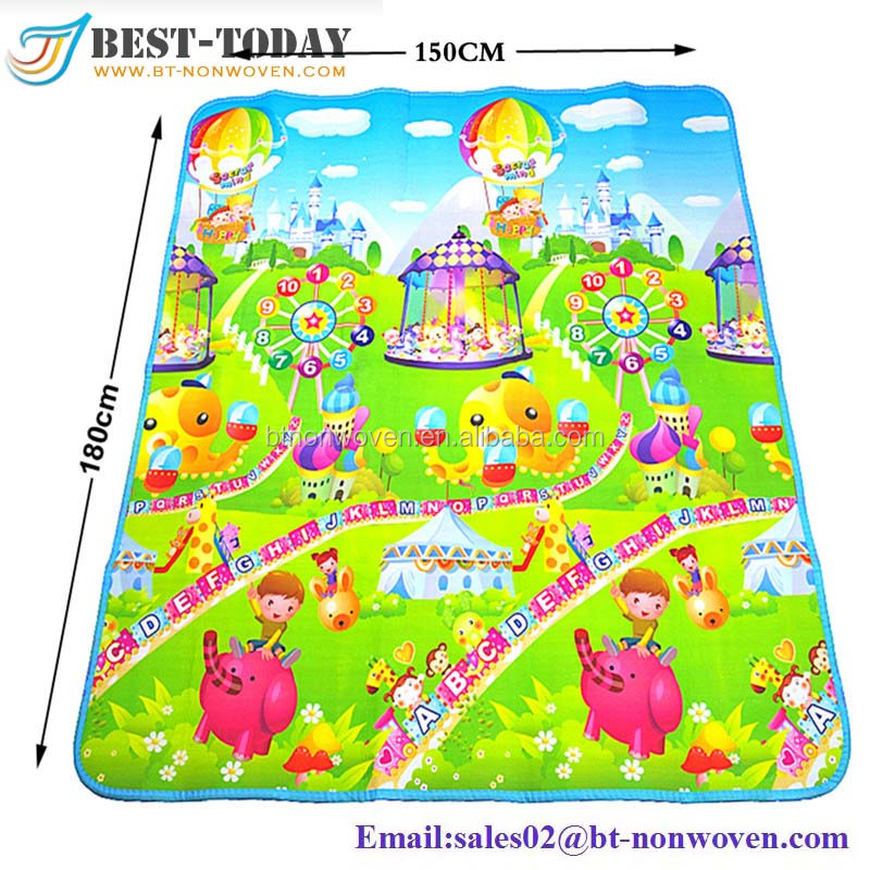 1.8*1.5m Environmental Protection;High Quality Waterproof Baby Play Mat with Sides for Sale