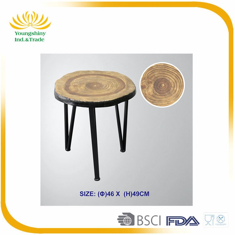 High quality oak cheap small black alibaba round home goods modern wood coffee table