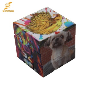 UV print Cartoon Speed 3x3 2x3 OEM Magic puzzle cube for Kids and promo