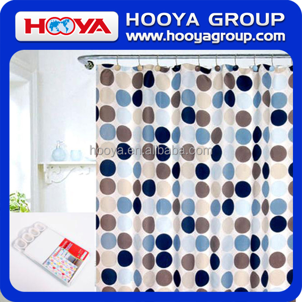 PE Shower Curtain With 12 Plastic Hooks/Custom Shower Curtain