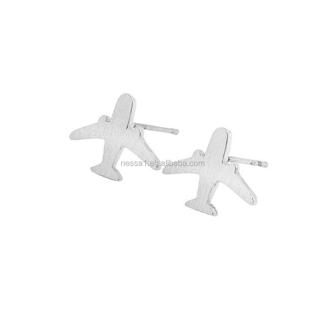 Top Quality Aircraft Plane Earrings Women YU-0192