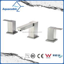 High quality American popular UPC CUPC double handle brass bathroom sink water basin faucet cupc
