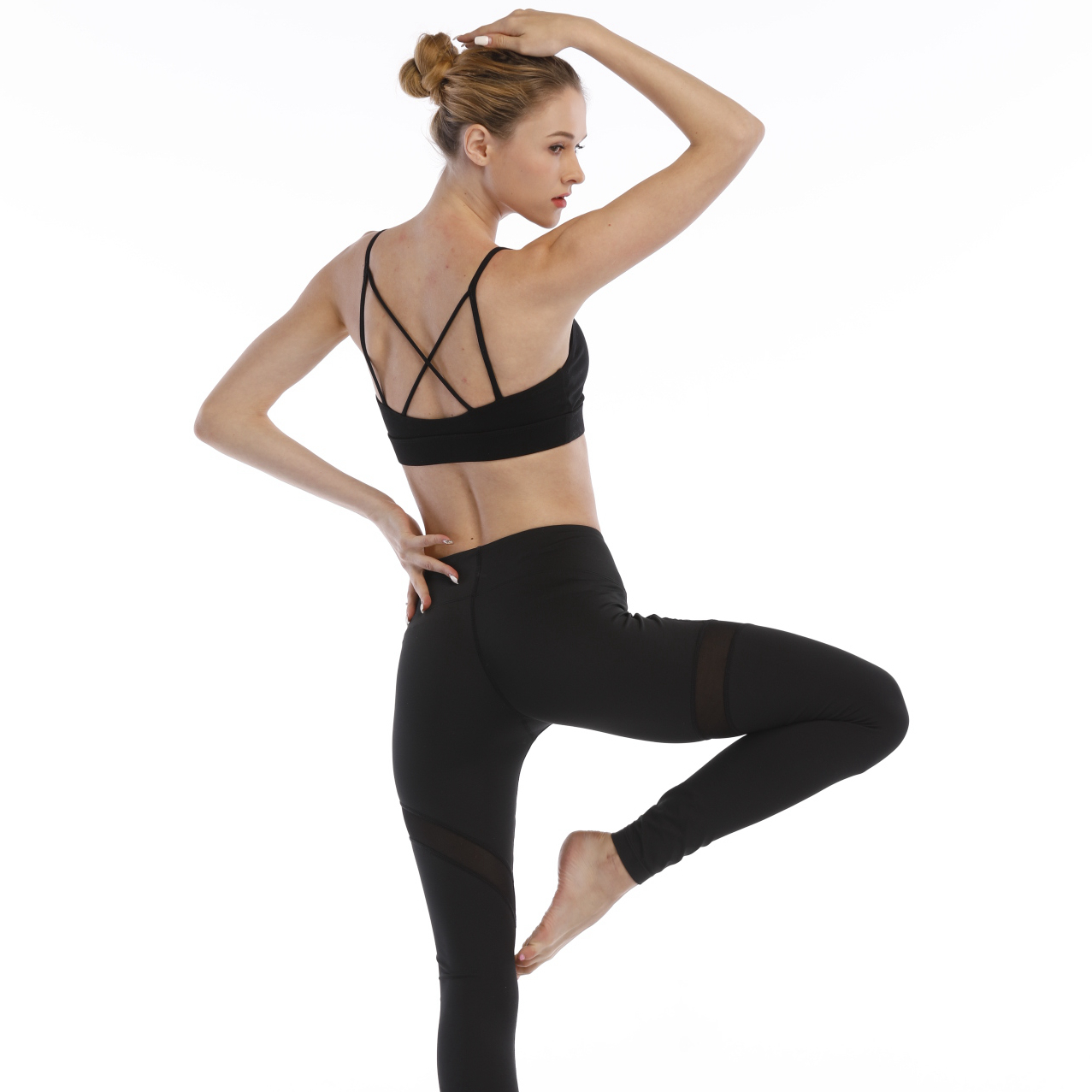 Hot sales polyester and spandex make OEM services ladies yoga fitness legging