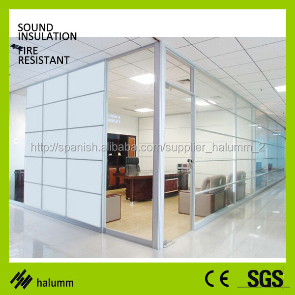 decorative glass partitions double Glass and wood fixed high ...