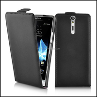 Durable Genuine Real Flip Leather Case Wallet Cover for Sony Xperia S LT26I