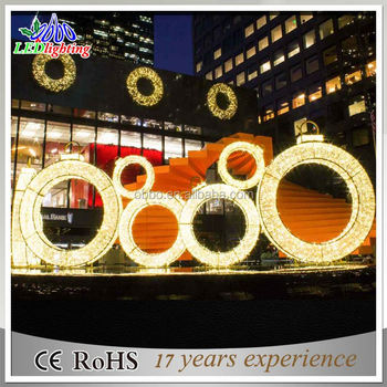square&shopping mall christmas LED 3D decoration light