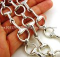 Sterling 925 Silver Equestrian Horse Bit Necklace