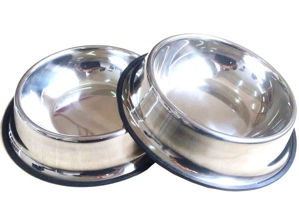 skidproof stainless steel dog bowl B41