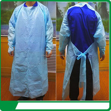 Disposable CPE Film Isolation Gown With Thumbhooks