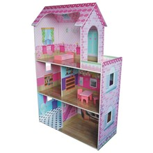 HT-DH007 2014 NEW miniature DIY cute modern style kids wooden Toy house for kids preschool play