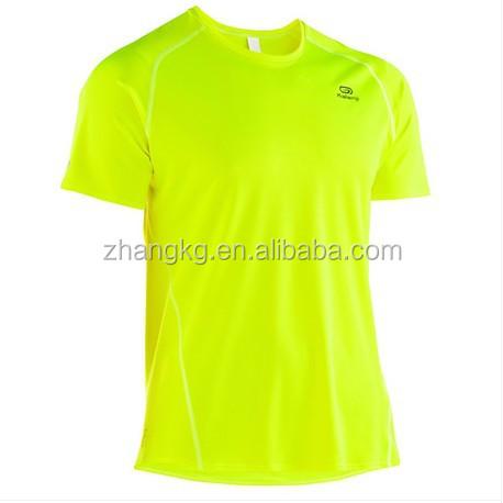 Wholesale Men Dry Fit Bird Eyes Run T Shirts Polyester