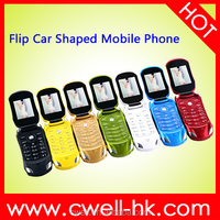 Fashion Flip Car Shaped Mobile Phones 1.77' Unlocked Dual SIM Car Style Cell Phone