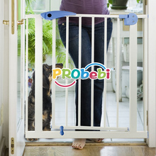 Baby safety at home folding pet gates