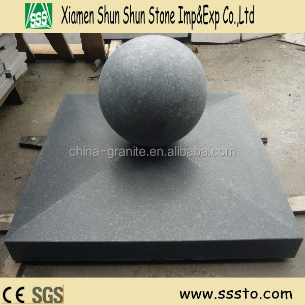 Granite black basalt G684 pier caps and ball