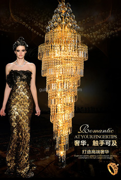 Large Luxury K9 Crystal Chandelier Lighting for Hotel Lobby Decor