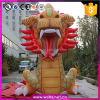 Chinese style inflatable golden dragon cartoon for outdoor advertising