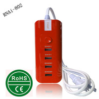 retractable socket outlet,Mobile phone and Tablet Use 4 usb wall socket,ac socket with motorcycle usb charger