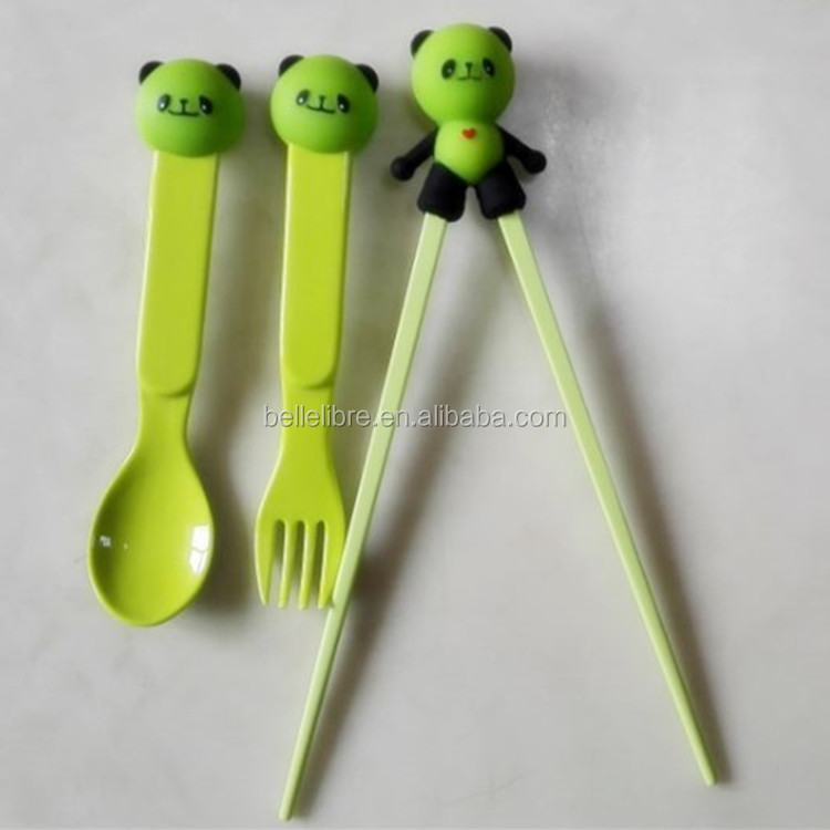 silicone animal head children study plastic chopsticks and silicone chopsticks holder