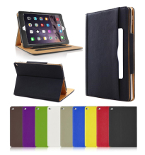 Tan Leather Wallet Smart Flip Folio Case Cover for iPad Mini 4
