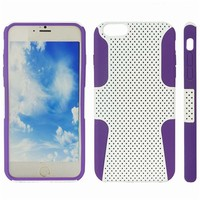 tpu + hair line pc hybrid case for iphone 6