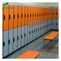 Waterproof HPL two color locker for changing room