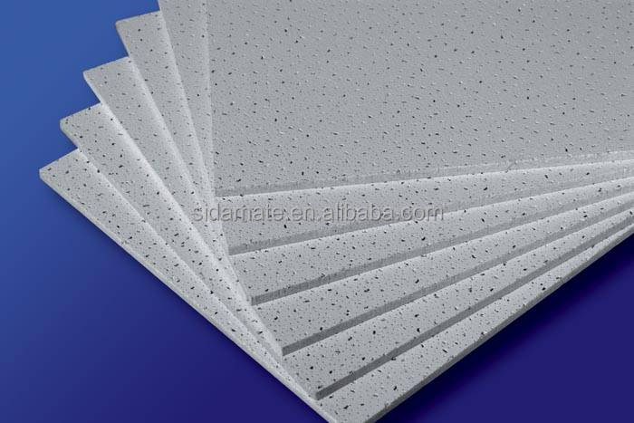 Acoustic fireproof Mineral Fibre wool Ceiling Board false ceiling