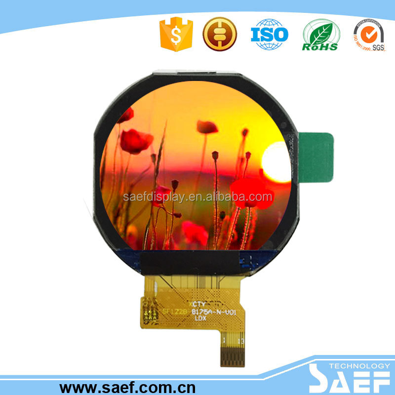Wearable device with 240x204 1.22 inch round lcd display for watch lcd module
