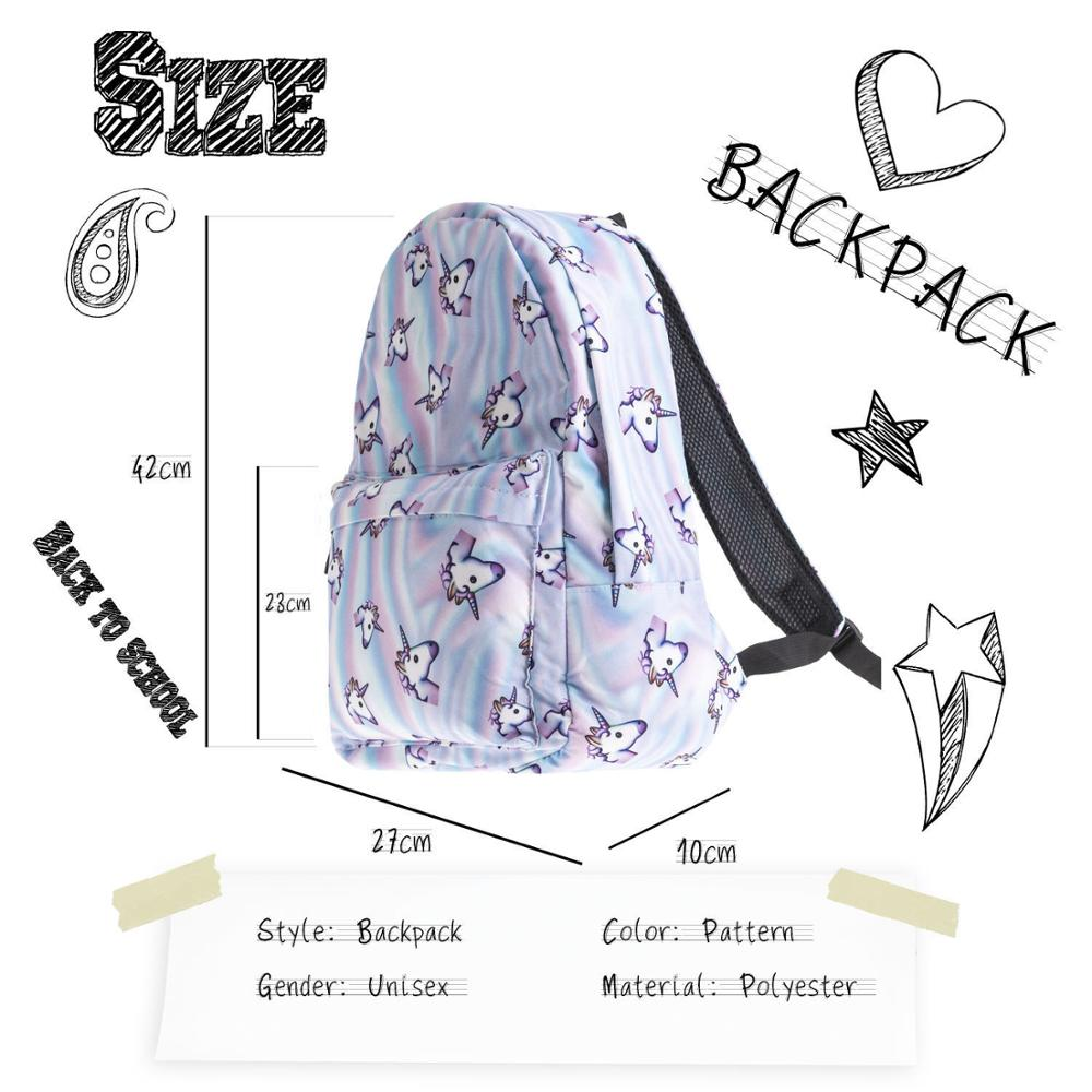 Unicorn Backpack Casual Backpack Bag Women Kids School Bags