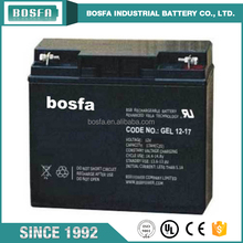 solar batter 12v 17ah 20hr battery valve regulated battery with msds