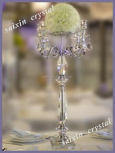 Gorgeous wedding accessories silver metal candelabra with flower holder