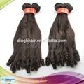 Full cuticle fashion design natural color new fumi curl hair extensions