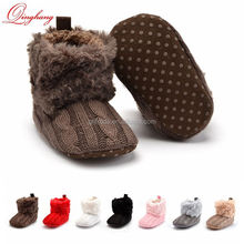 3 sizes 0-18 Months Perfect Baby Toddler Girl Boy Winter Fleece Knitted Snow Boots Soft Sole Prewalker Shoes
