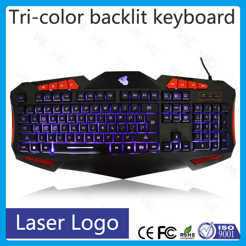 12 years factory wired led backlit usb gaming keyboards
