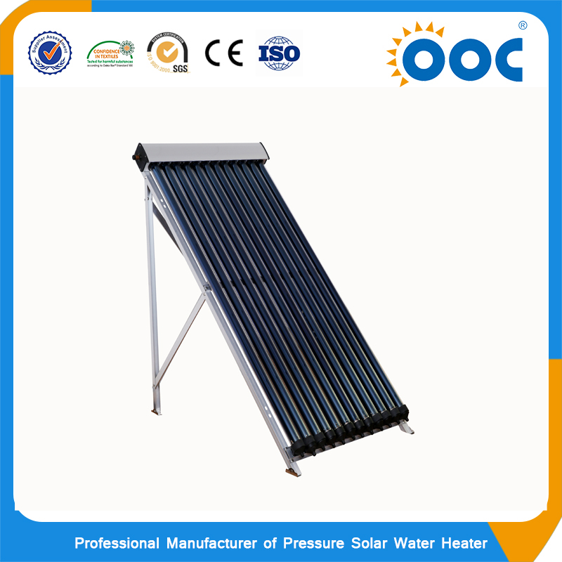 Heat pipe solar collector for swimming pool heater water