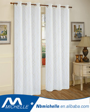 American Home Grommet Window Embroidery Fabric Curtain