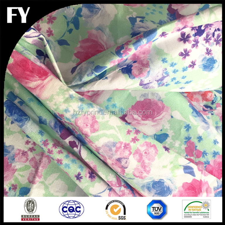 Custom new design high quality digital printing guangzhou cotton fabric