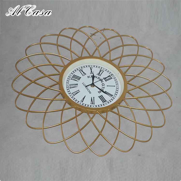 Home decoration wall mirror decorative metal wall hanging clock decor