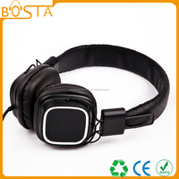 2015 Best looking custom design luxury leather headphone made in china