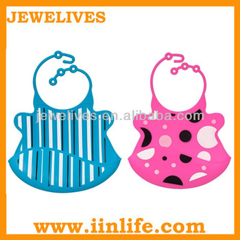 Wholesale blank silicone waterproof rubber baby bib