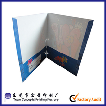 cheap handmade printed a4 paper presentation file folder