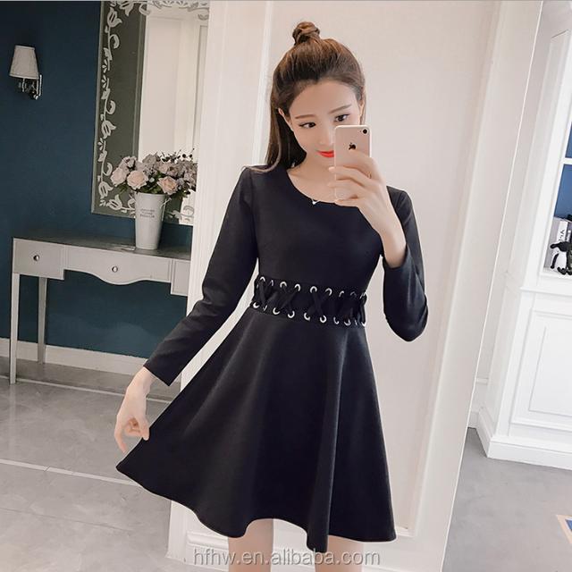 2018 NEW HAN LADY SWEET BUBBLE CHIFFON SLEEVE WOMEN'S DRESS